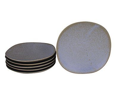 7-3/4 Inch Arctic Ice Small Japanese Dinner Plate Set for Six