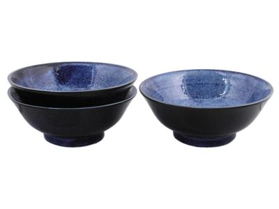 8-1/4 Inch Starry Night Japanese Ramen Bowl Set of Three