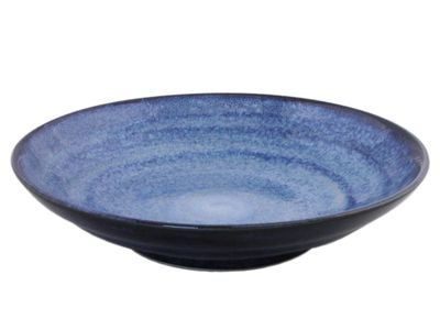 9 Inch Large Shallow Japanese Starry Night Serving Bowl