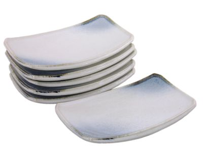 Glacier Ice Japanese Sushi Plates Set for Six