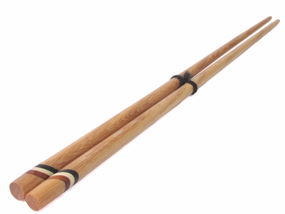 Lightwood Chopsticks w/ Contrasting Bands II (ONLY ONE)