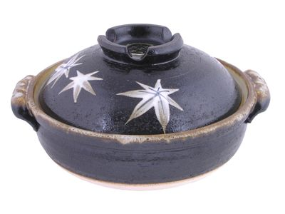 Maple Leaves Japanese Clay Pot
