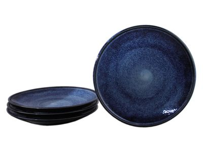 10-1/8 Inch Starry Night Japanese Dinner Plate Set for Four