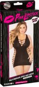 Pink Lipstick Rule Breaker Open Side Dress - Plus Size, Black, One Size Plus