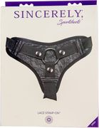 Sincerely by Sportsheets - Lace Strap-On - Black