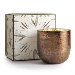 Illume Woodfire Luxe Mercury Glass Candle