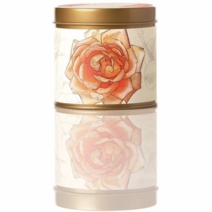 Rosy Rings Apricot Rose Tin Candle