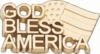 10K  Gold God Bless America Lapel Pin