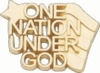 10K  Gold One Nation Under God Lapel Pin