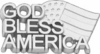 10K White Gold God Bless America Lapel Pin