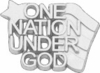 10K White Gold One Nation Under God Lapel Pin
