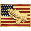 14K Gold American Flag with Praying Hands Pin