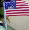 "9-11-01 Commemorative Antenna Flag 4""x 6"""