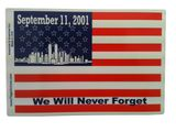 "9-11-01 Commemorative Flag Magnet 4""x6"""