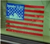 "9-11-01 Commemorative Flag Static Decal 4"" x 6"""