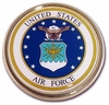 Air Force Seal Chrome Automobile Emblem