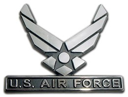 Air Force Wings Seal Chrome Automobile Emblem