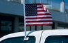 "American Car Flag 11"" x 15.5"" on 20"" pole"