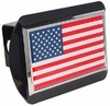 American Flag Black Chrome Hitch Cover