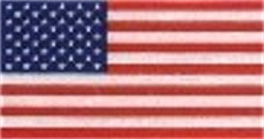 """2/"""" x 3/"""" AMERICAN FLAG Highly Reflective REVERSE Vinyl Decal"""