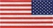 "American Flag Reverse Retroflective Extra Large 3M Decal  3""x 5 7/8"""