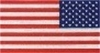 "American Flag Reverse Retroflective Large 3M Decal 1 1/2"" x  3"""