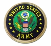 Army Green Seal Chrome Emblem