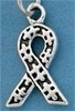 Autism Ribbon Sterling Silver Charm
