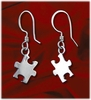 Autism Sterling Silver Earrings