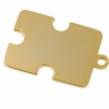 Autism Symmetrical Puzzle Piece Pendant Gold Plated