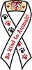 Be Kind To Animals Ribbon Magnet