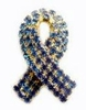 Blue Rhinestone Awareness Ribbon Pin