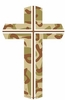 "Camouflage Cross Large Magnet  4"" x 6"""