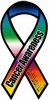 "Cancer Awareness Large Ribbon Magnet 4"" x 8"""