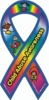 "Child Abuse Awareness Large Ribbon Magnet 4"" x 8"""