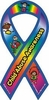 "Child Awareness Large Ribbon Static Decal 3"" x 6"""