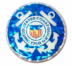 Coast Guard 3D Reflective Seal Decal