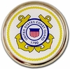 Coast Guard Seal Chrome Automobile Emblem