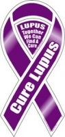 Cure Lupus Awareness Ribbon Magnet