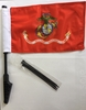 "Cycle Marines 8"" x 13"" Flag"