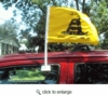 "Don't Tread On Me Gadsden Car Flag 12"" x 18"""