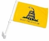 "Don't Tread On Me Gadsden Car Flag 8"" x 13"""