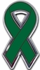 Emerald Green Chrome Ribbon Emblem
