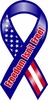 "Freedom Isn't Free Large Ribbon Magnet 4"" x 8"""