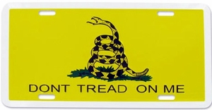 Gadsden Flag License Plate