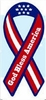 "God Bless America Large Ribbon Magnet 4"" x 8"""