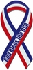 "God Bless the USA Extra Large Ribbon Magnet 5"" x  11"""