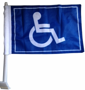 Handicap Car Flag