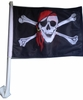 Jolly Rodger Pirate Car Flag
