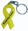 Key Tag Find the Cure  Yellow